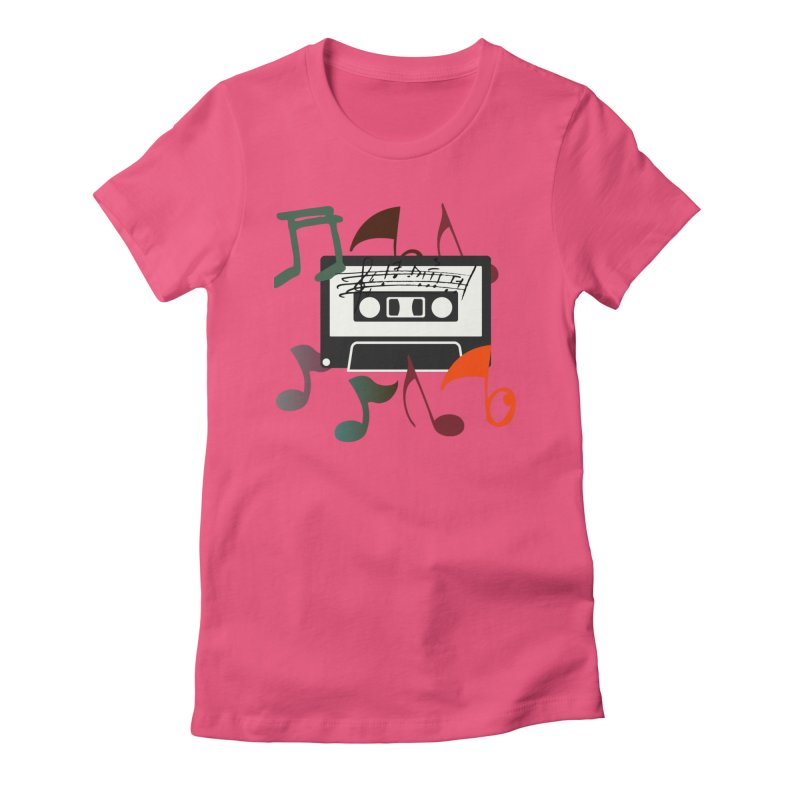 Vintage Music Women's Fitted T-Shirt by 8010az's Shop