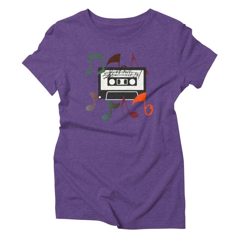 Vintage Music Women's Triblend T-Shirt by 8010az's Shop