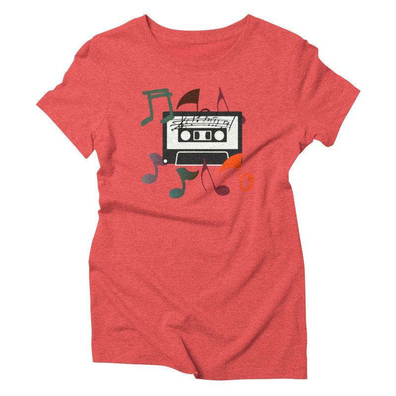 Vintage Music Women's Triblend T-Shirt by 8010az's Shop