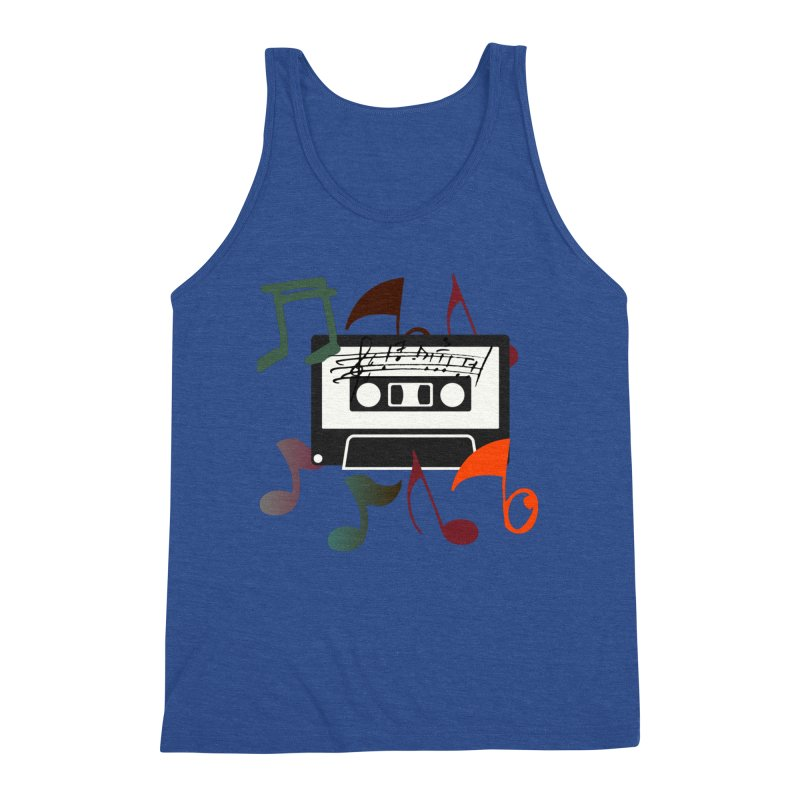 Vintage Music Men's Triblend Tank by 8010az's Shop
