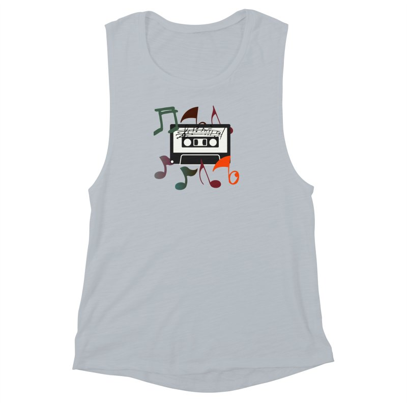 Vintage Music Women's Muscle Tank by 8010az's Shop