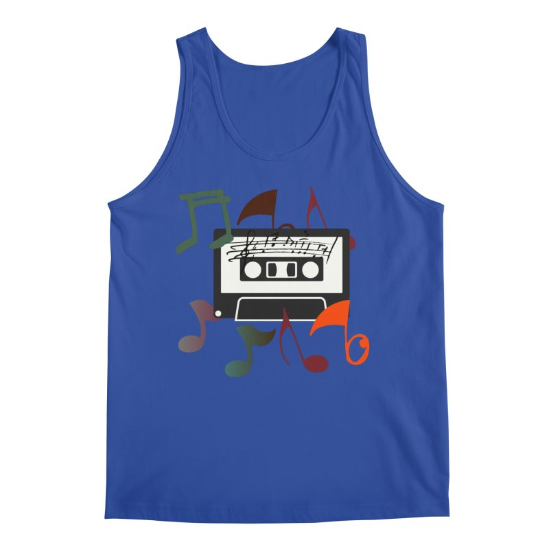 Vintage Music Men's Regular Tank by 8010az's Shop