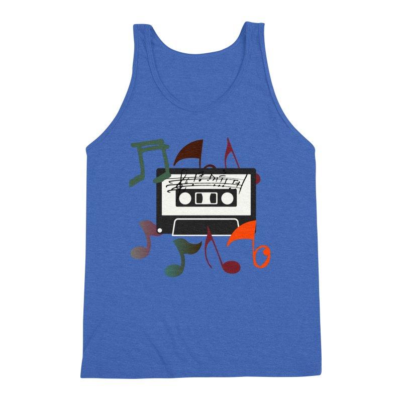 Vintage Music Men's Triblend Tank by 8010az's Shop
