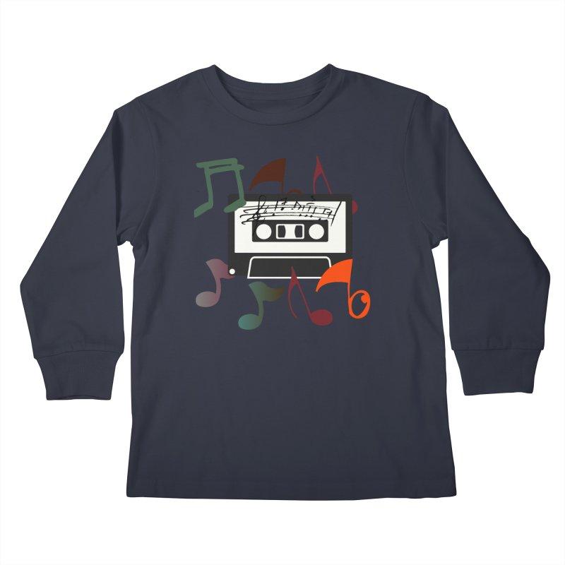Vintage Music Kids Longsleeve T-Shirt by 8010az's Shop