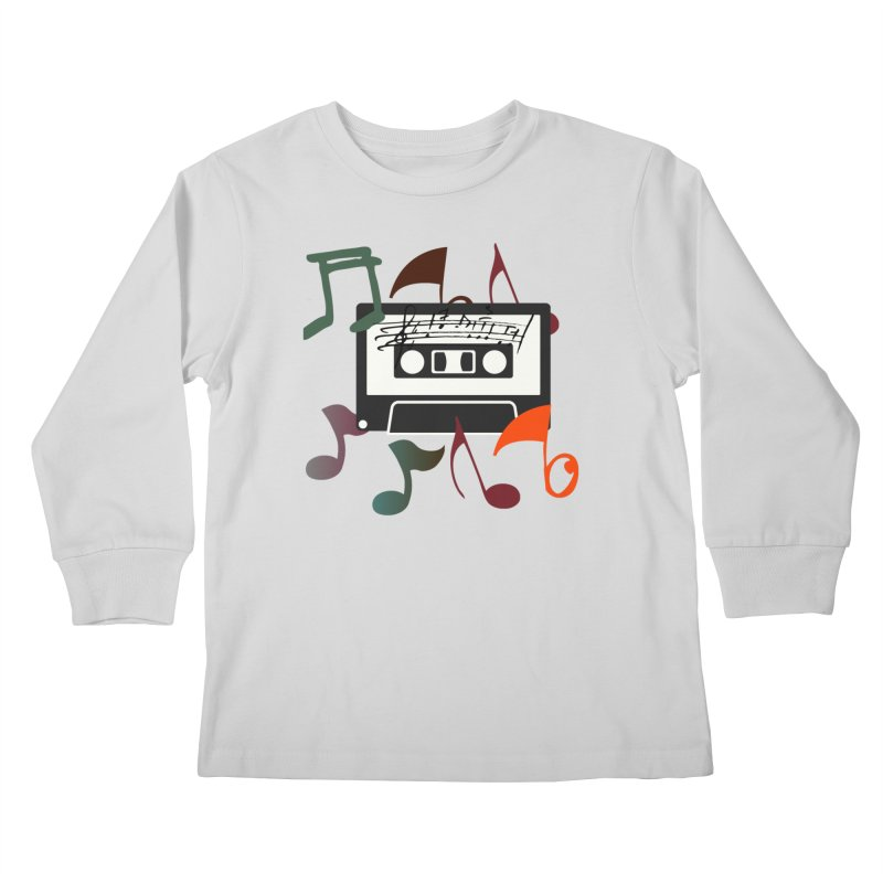 Vintage Music Kids Longsleeve T-Shirt by 8010az's Shop