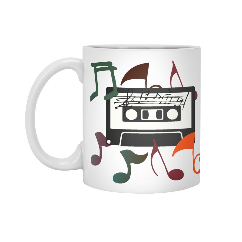 Vintage Music Accessories Standard Mug by 8010az's Shop