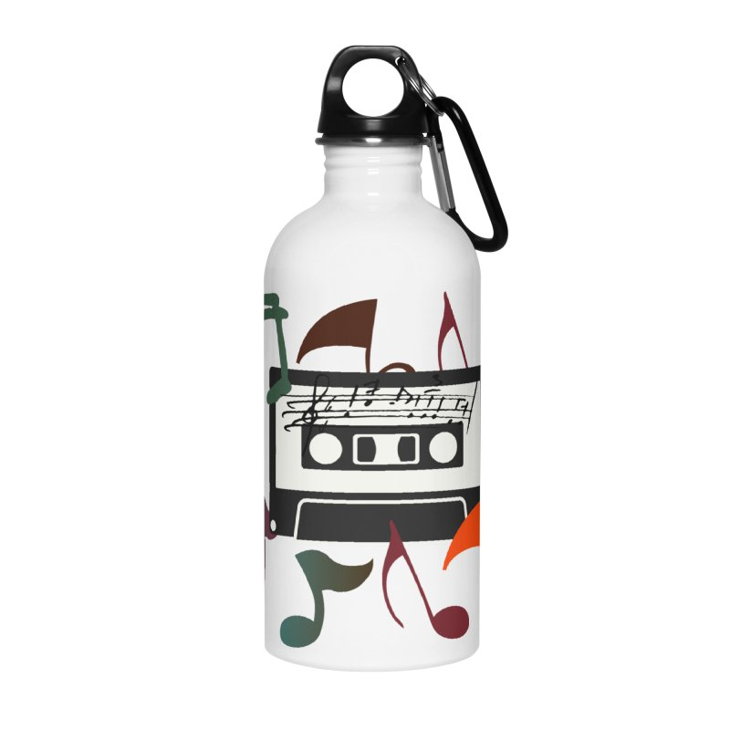 Vintage Music Accessories Water Bottle by 8010az's Shop