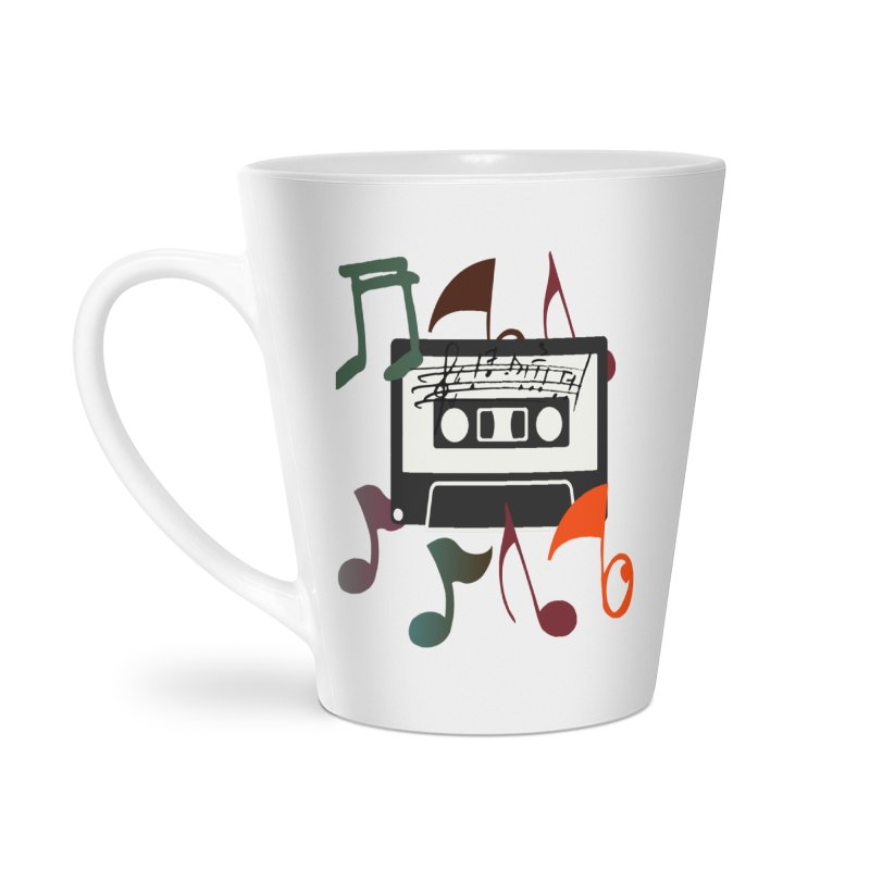Vintage Music Accessories Latte Mug by 8010az's Shop