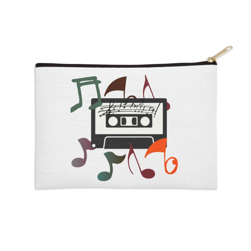 Vintage Music Accessories Zip Pouch by 8010az's Shop