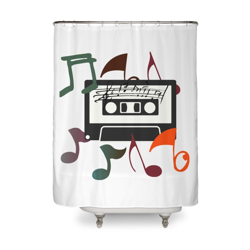 Vintage Music Home Shower Curtain by 8010az's Shop