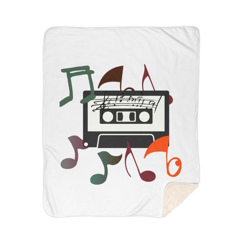 Vintage Music Home Sherpa Blanket Blanket by 8010az's Shop