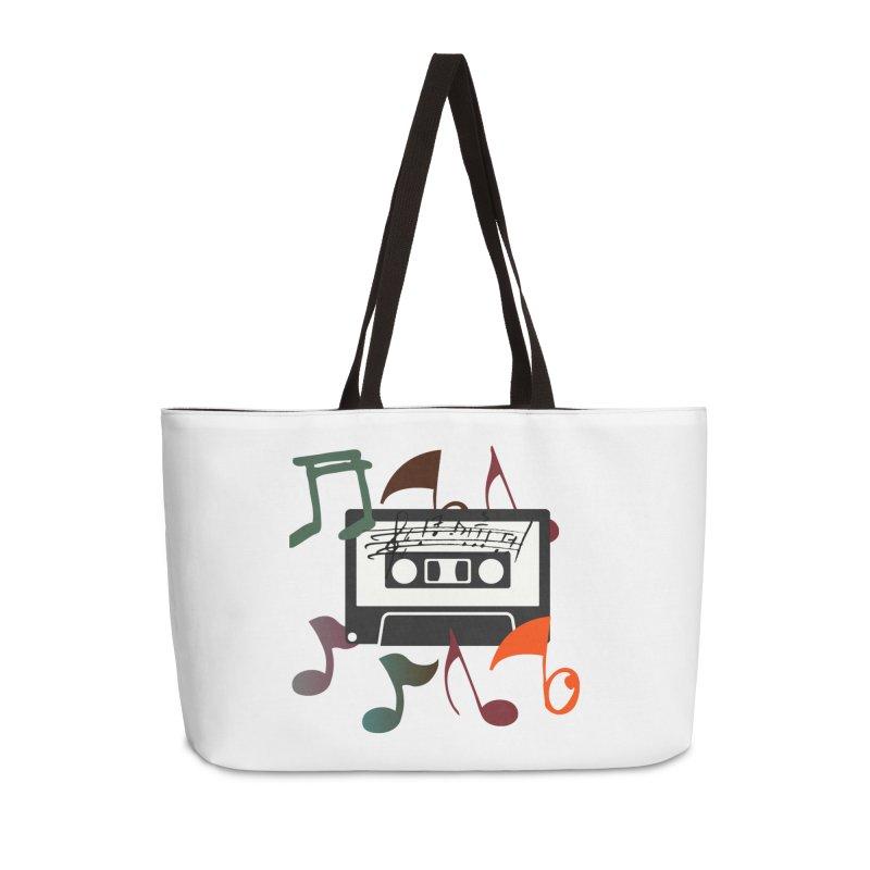 Vintage Music Accessories Weekender Bag Bag by 8010az's Shop
