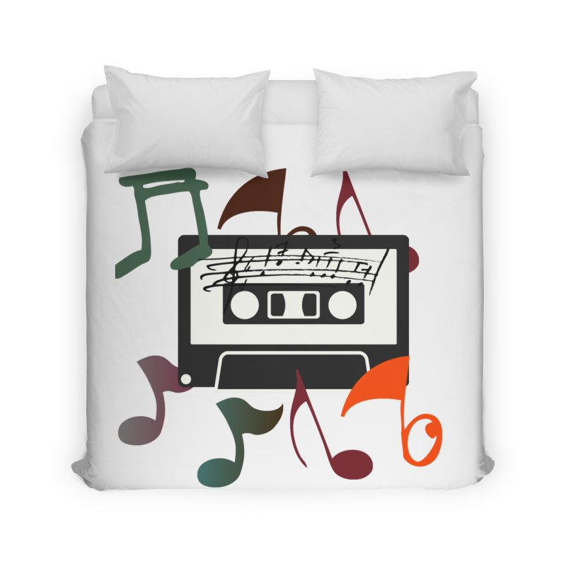 Vintage Music Home Duvet by 8010az's Shop