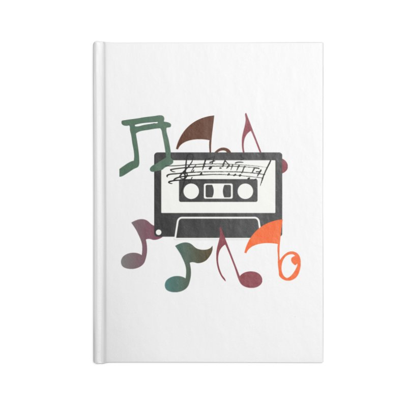 Vintage Music Accessories Lined Journal Notebook by 8010az's Shop