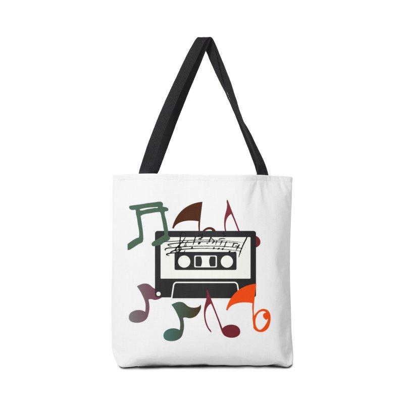 Vintage Music Accessories Tote Bag Bag by 8010az's Shop