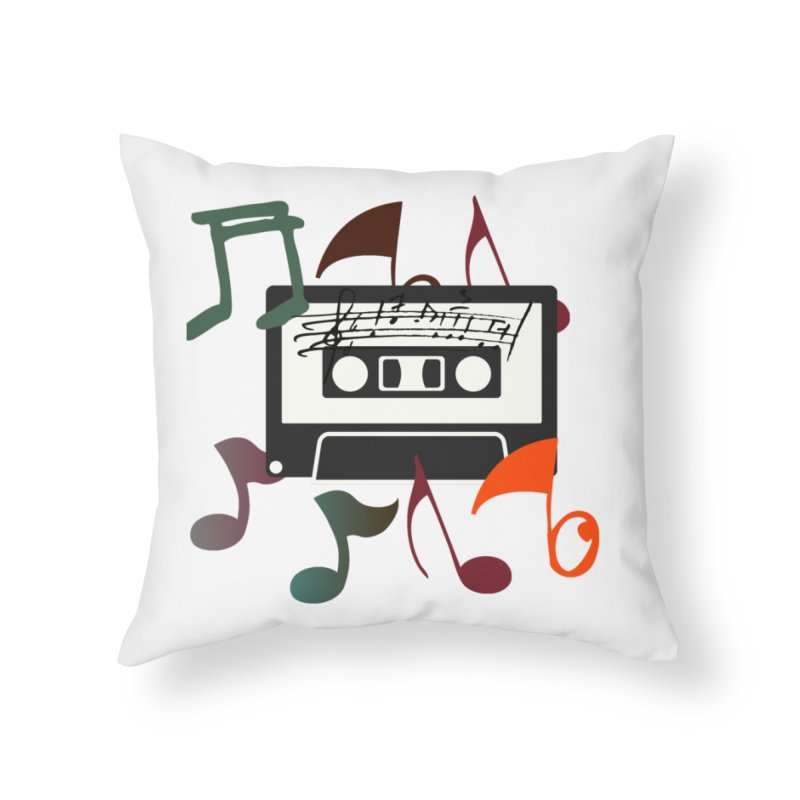 Vintage Music Home Throw Pillow by 8010az's Shop