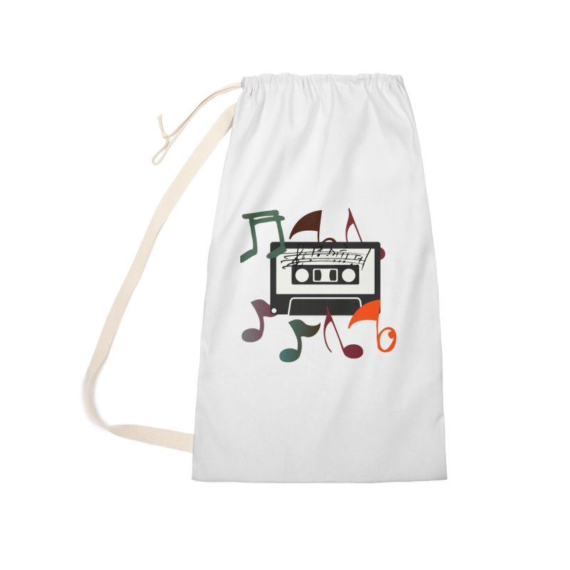 Vintage Music Accessories Laundry Bag Bag by 8010az's Shop