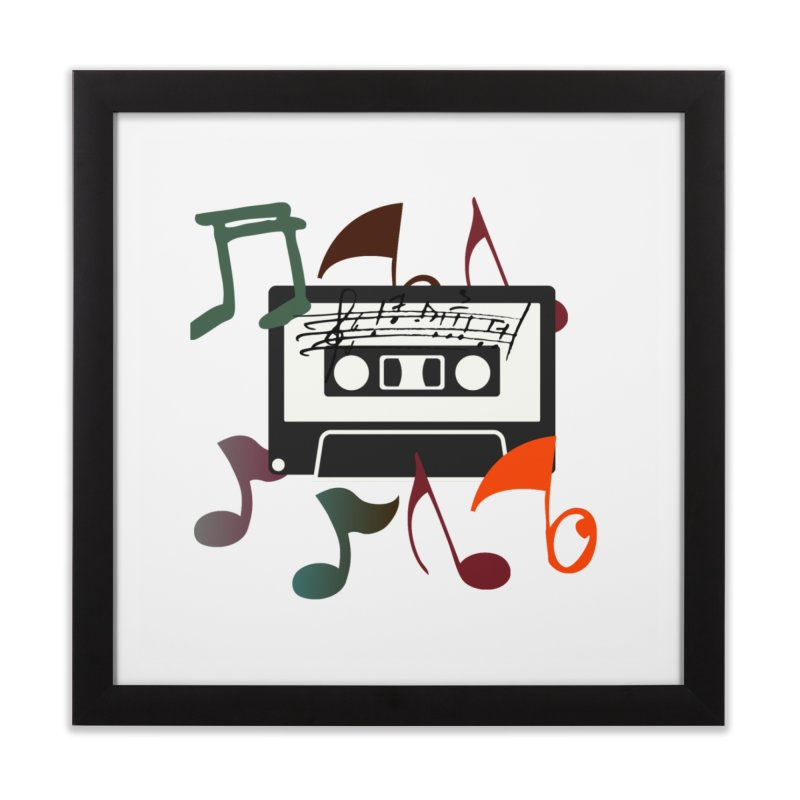 Vintage Music Home Framed Fine Art Print by 8010az's Shop