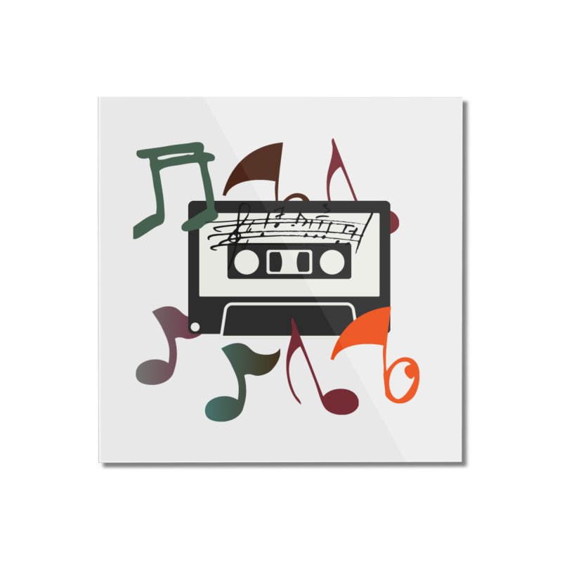 Vintage Music Home Mounted Acrylic Print by 8010az's Shop