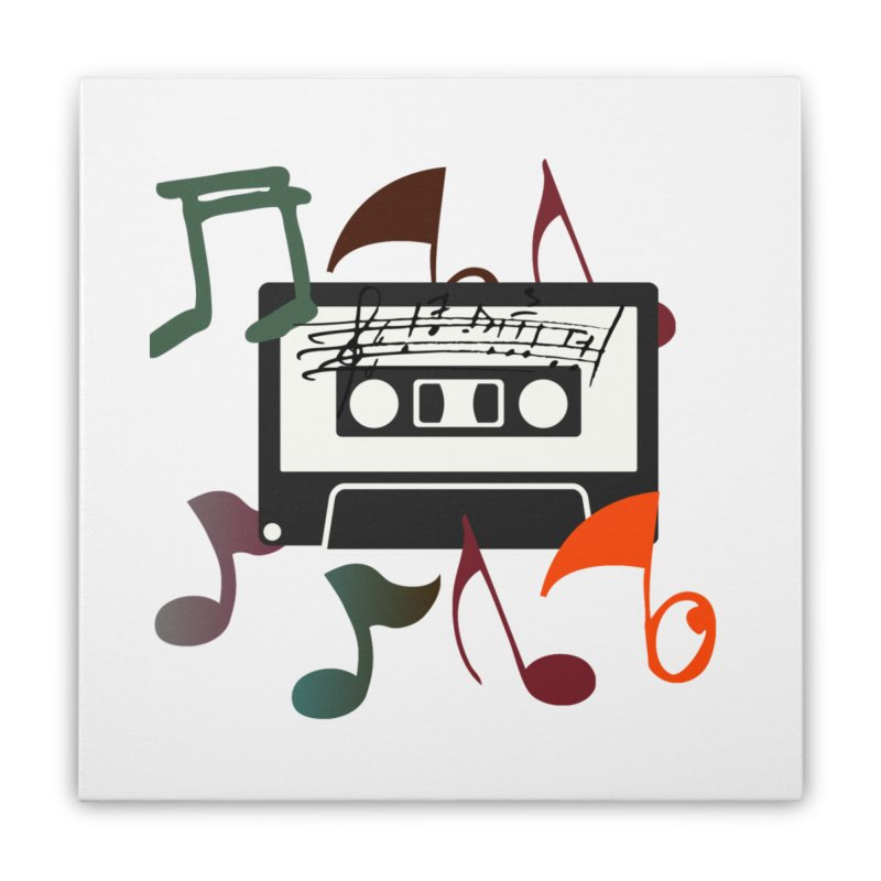 Vintage Music Home Stretched Canvas by 8010az's Shop