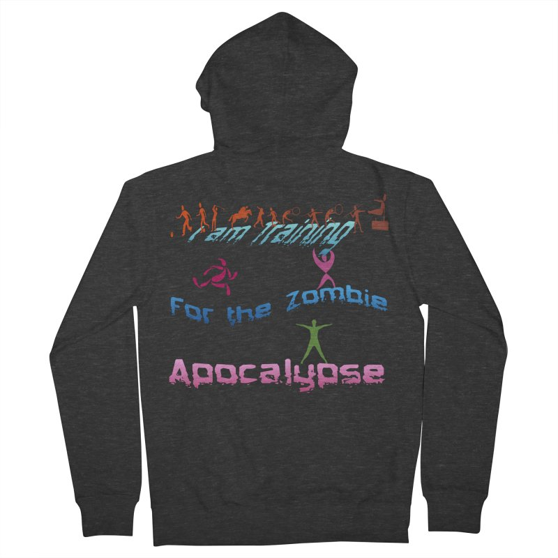 Fitness For The Zombie Apocalypse Men's French Terry Zip-Up Hoody by 8010az's Shop