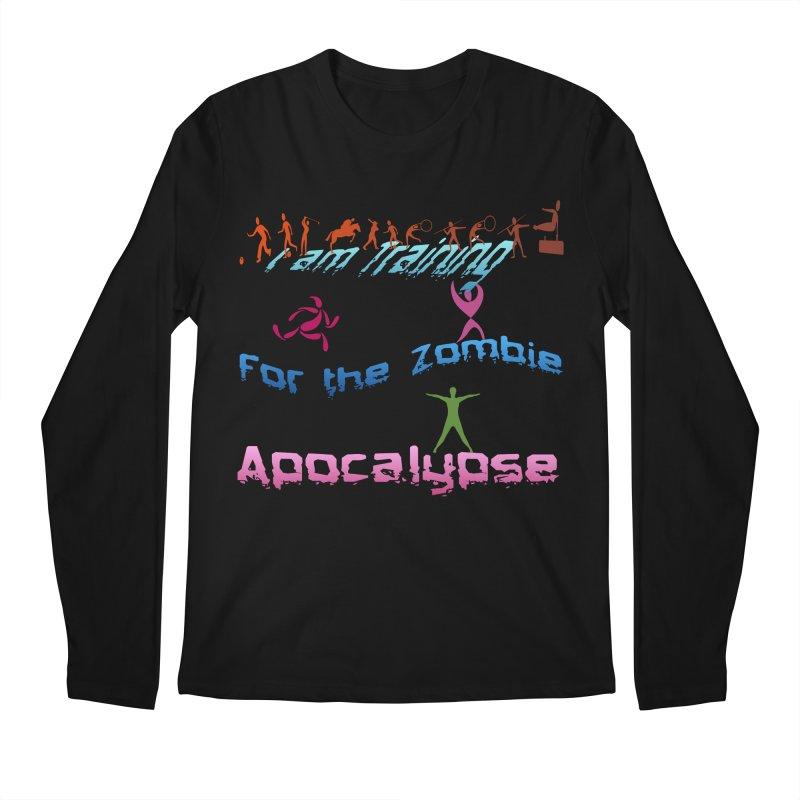 Fitness For The Zombie Apocalypse Men's Regular Longsleeve T-Shirt by 8010az's Shop