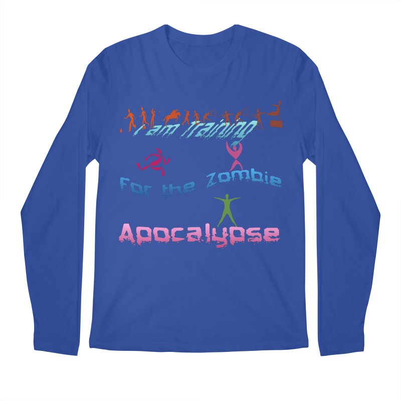Fitness For The Zombie Apocalypse Men's Regular Longsleeve T-Shirt by 8010az's Shop