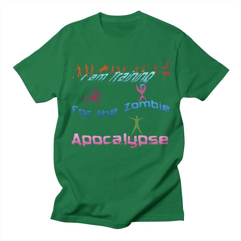 Fitness For The Zombie Apocalypse Men's Regular T-Shirt by 8010az's Shop