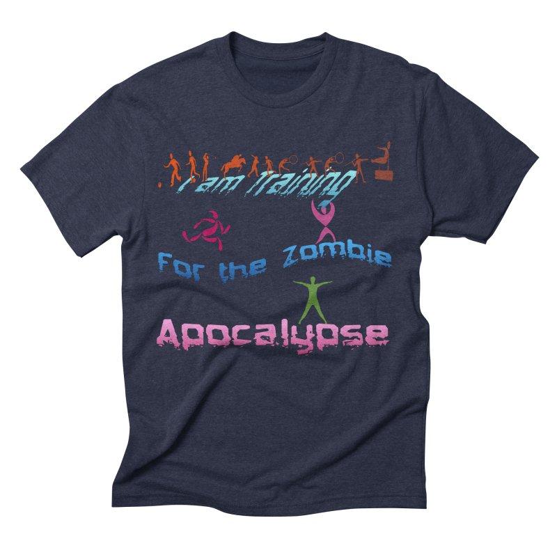 Fitness For The Zombie Apocalypse Men's Triblend T-Shirt by 8010az's Shop