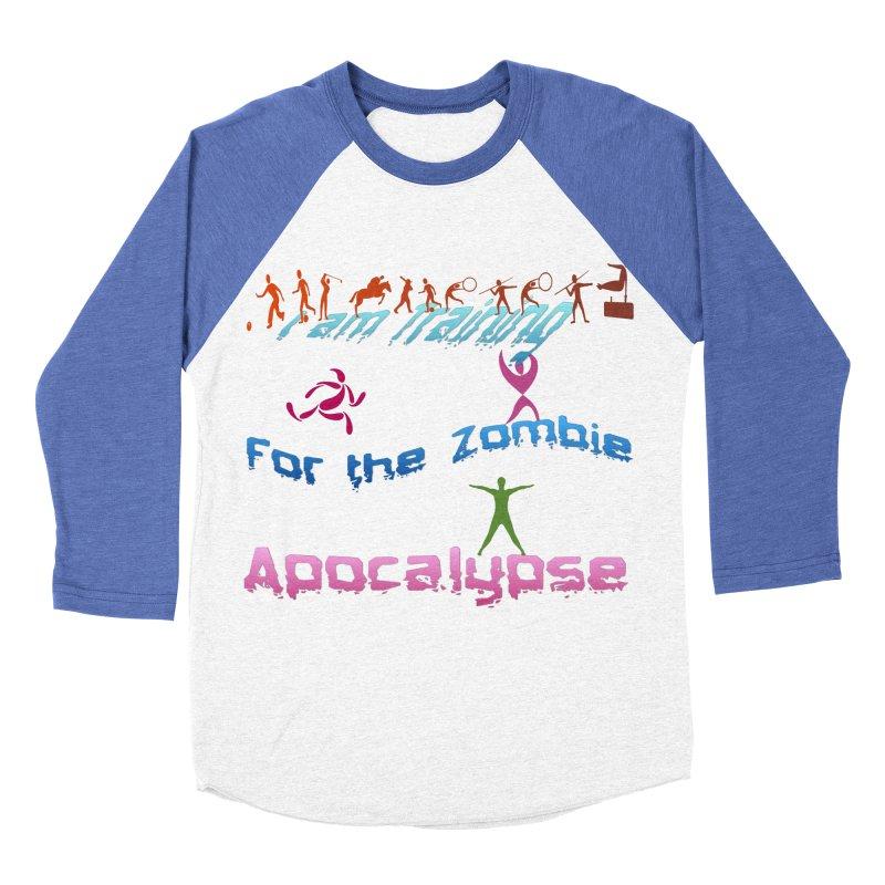 Fitness For The Zombie Apocalypse Men's Baseball Triblend Longsleeve T-Shirt by 8010az's Shop