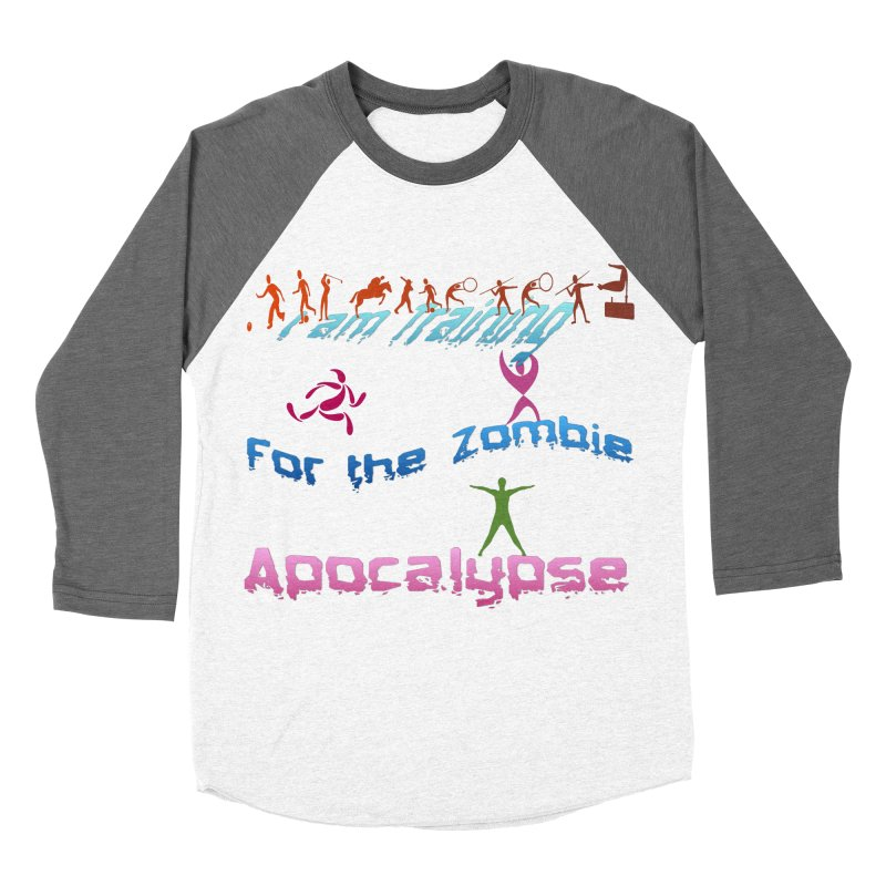 Fitness For The Zombie Apocalypse Men's Baseball Triblend Longsleeve T-Shirt by 8010az's Shop