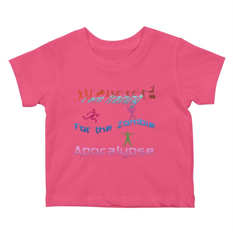 Fitness For The Zombie Apocalypse Kids Baby T-Shirt by 8010az's Shop
