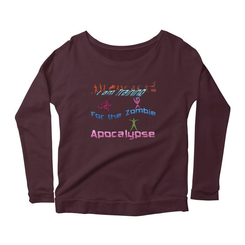 Fitness For The Zombie Apocalypse Women's Scoop Neck Longsleeve T-Shirt by 8010az's Shop
