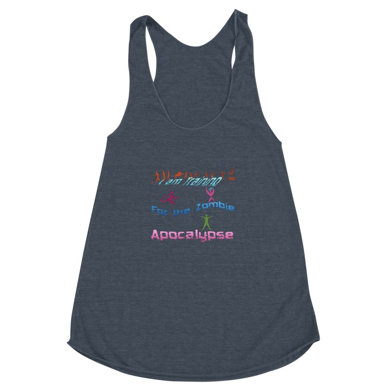 Fitness For The Zombie Apocalypse Women's Racerback Triblend Tank by 8010az's Shop