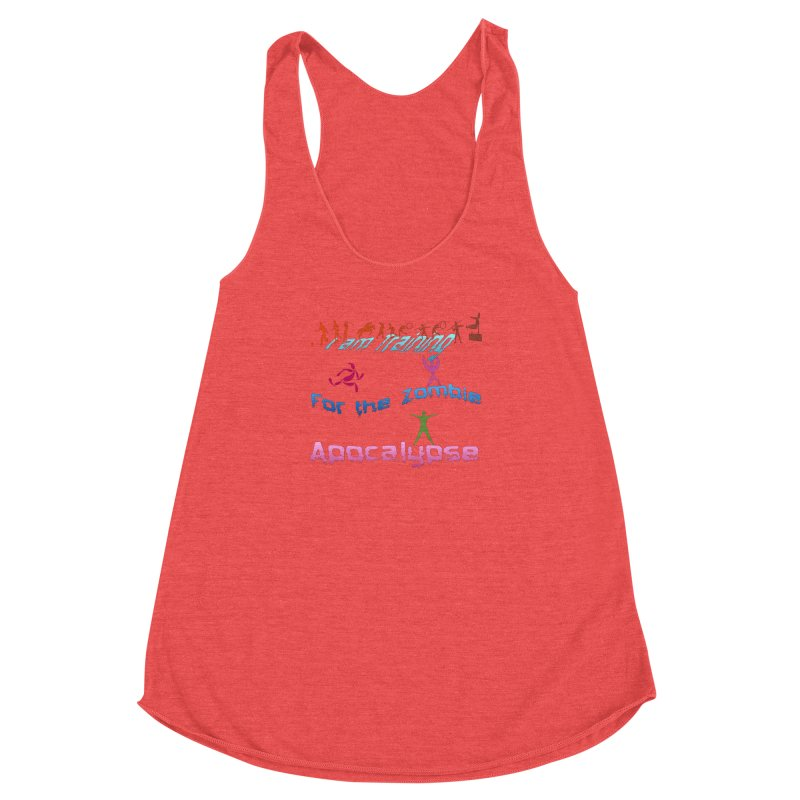 Fitness For The Zombie Apocalypse Women's Racerback Triblend Tank by 8010az's Shop
