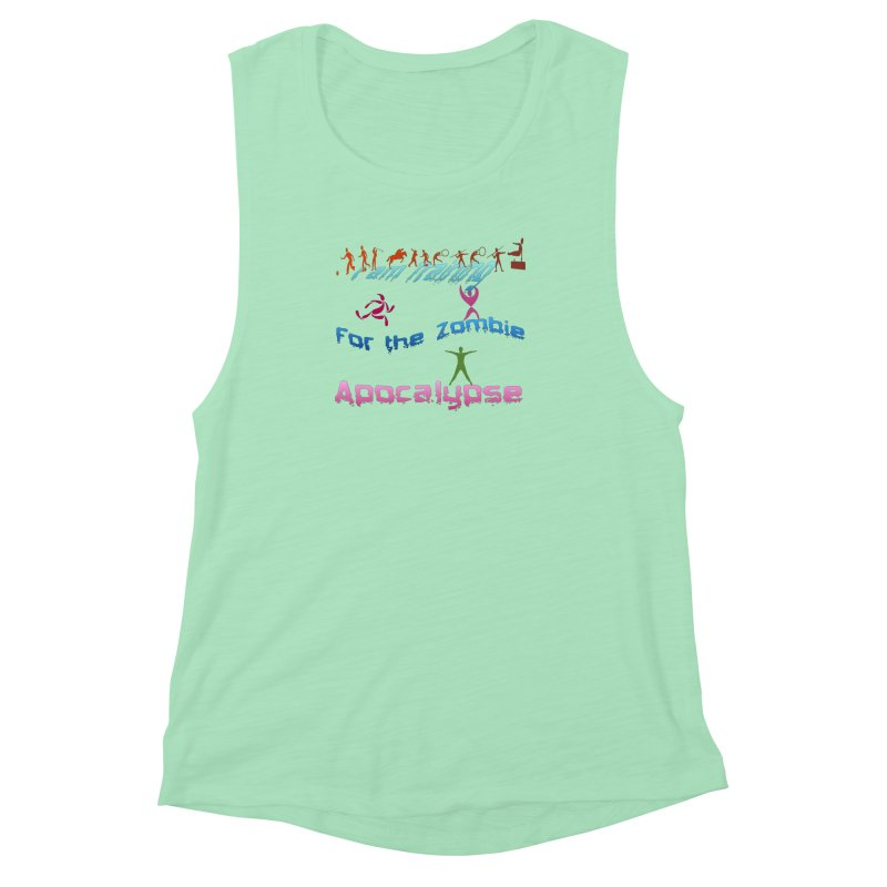 Fitness For The Zombie Apocalypse Women's Muscle Tank by 8010az's Shop