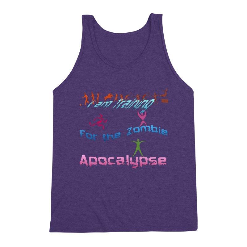 Fitness For The Zombie Apocalypse Men's Triblend Tank by 8010az's Shop