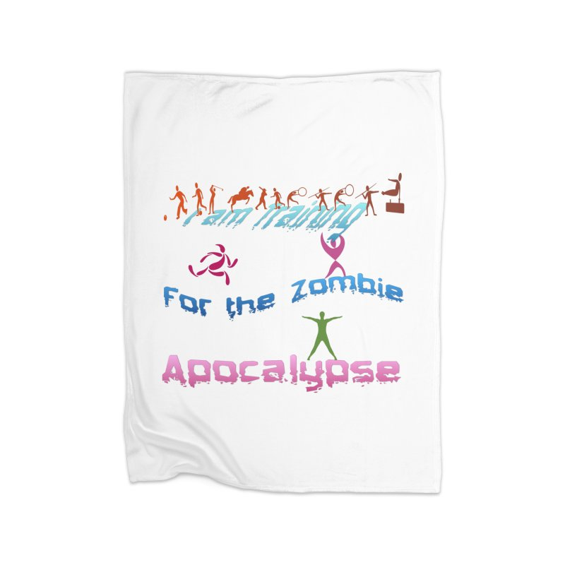 Fitness For The Zombie Apocalypse Home Fleece Blanket Blanket by 8010az's Shop