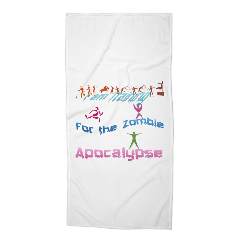 Fitness For The Zombie Apocalypse Accessories Beach Towel by 8010az's Shop