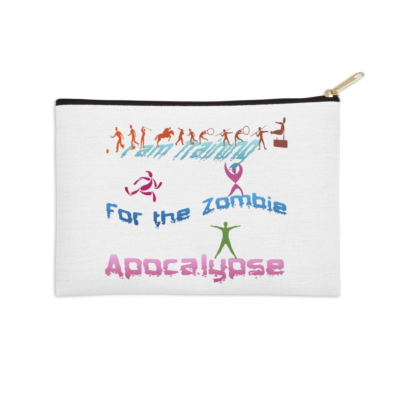 Fitness For The Zombie Apocalypse Accessories Zip Pouch by 8010az's Shop