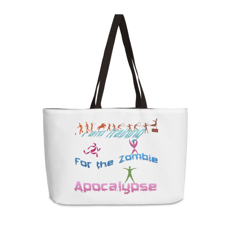 Fitness For The Zombie Apocalypse Accessories Weekender Bag Bag by 8010az's Shop