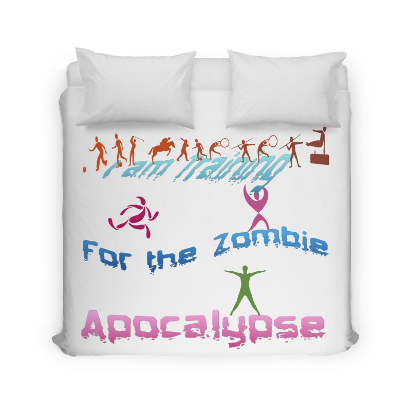 Fitness For The Zombie Apocalypse Home Duvet by 8010az's Shop