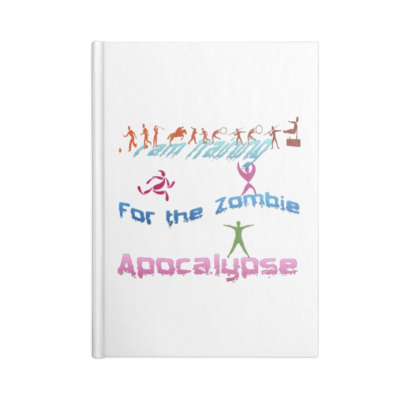 Fitness For The Zombie Apocalypse Accessories Lined Journal Notebook by 8010az's Shop