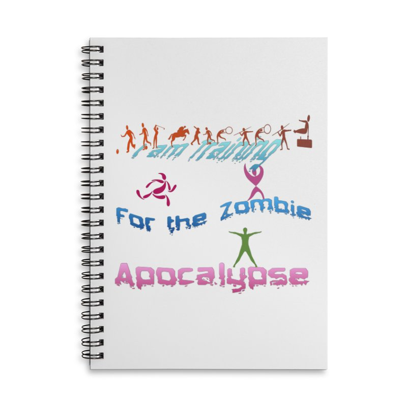 Fitness For The Zombie Apocalypse Accessories Lined Spiral Notebook by 8010az's Shop