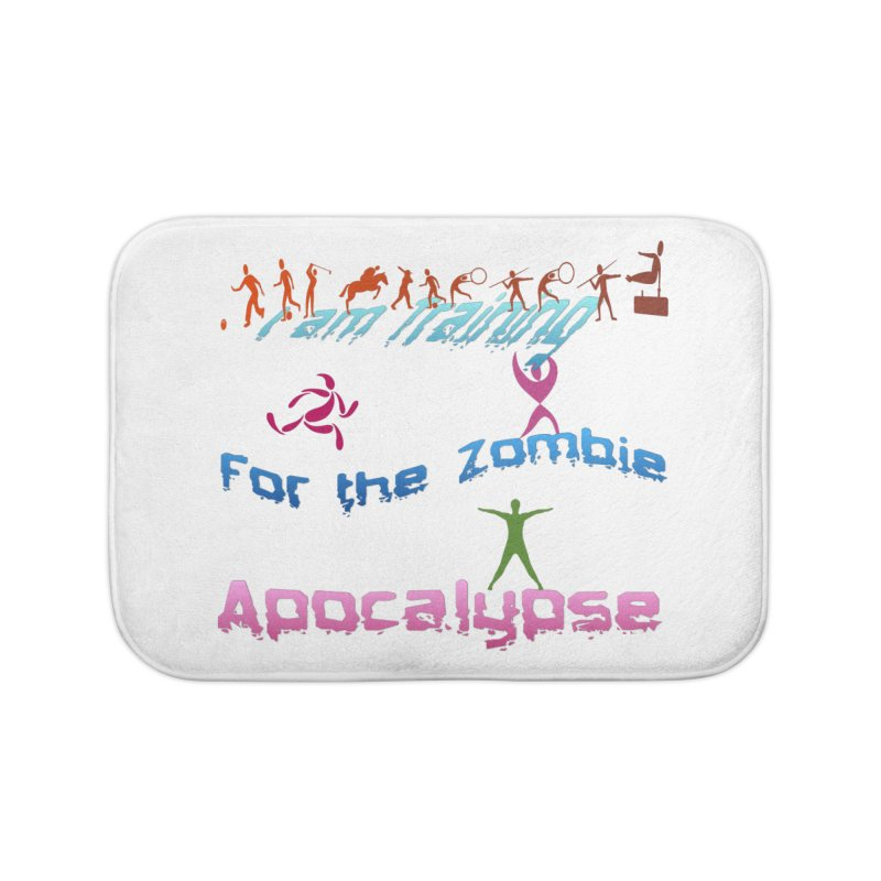 Fitness For The Zombie Apocalypse Home Bath Mat by 8010az's Shop