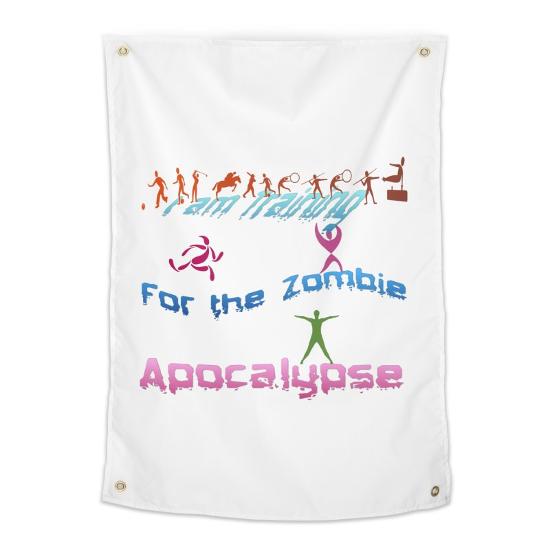 Fitness For The Zombie Apocalypse Home Tapestry by 8010az's Shop