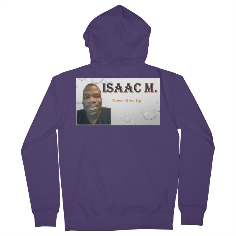 Isaac M - T-shirt - Never give up Women's Zip-Up Hoody by 8010az's Shop