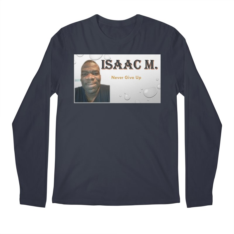 Isaac M - T-shirt - Never give up Men's Regular Longsleeve T-Shirt by 8010az's Shop