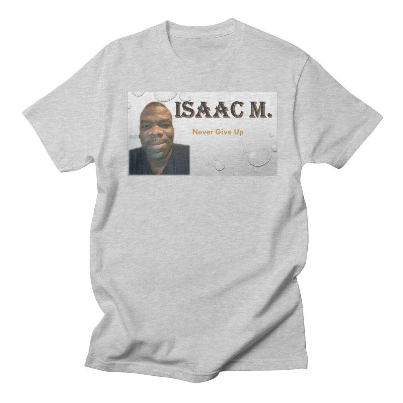 Isaac M - T-shirt - Never give up Men's Regular T-Shirt by 8010az's Shop