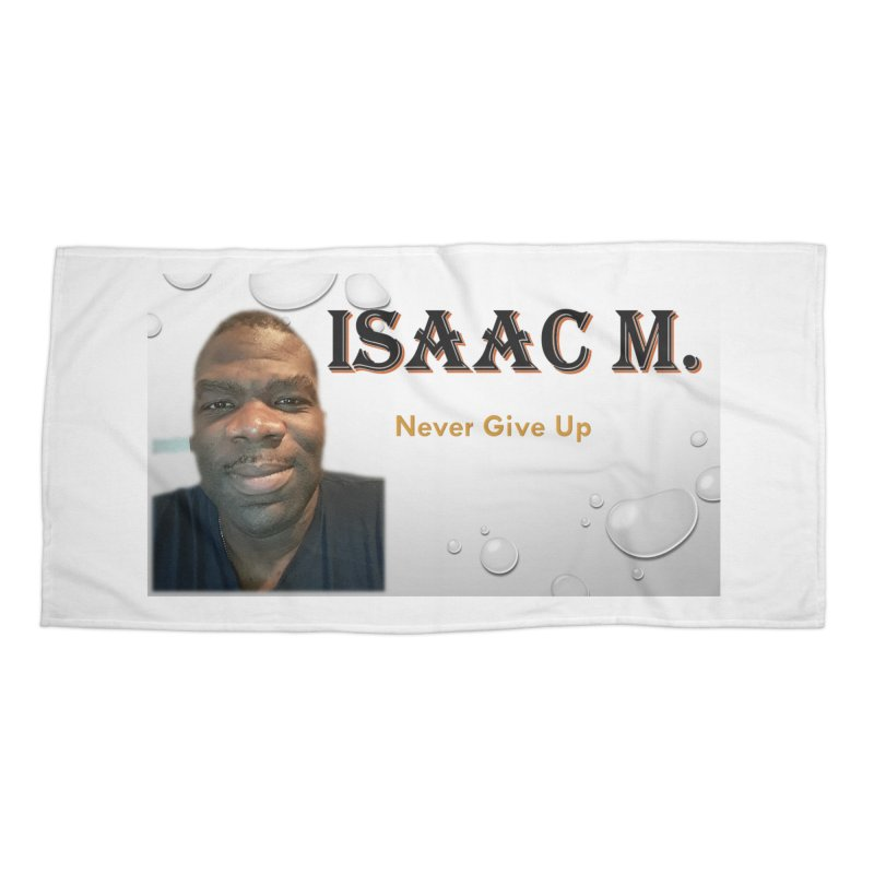 Isaac M - T-shirt - Never give up Accessories Beach Towel by 8010az's Shop
